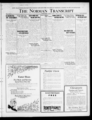Primary view of object titled 'The Norman Transcript  (Norman, Okla.), Vol. 10, No. 44, Ed. 1 Tuesday, April 11, 1922'.