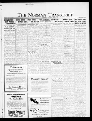 Primary view of object titled 'The Norman Transcript  (Norman, Okla.), Vol. 10, No. 45, Ed. 1 Thursday, April 13, 1922'.
