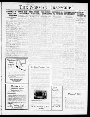 Primary view of object titled 'The Norman Transcript  (Norman, Okla.), Vol. 10, No. 47, Ed. 1 Tuesday, April 18, 1922'.