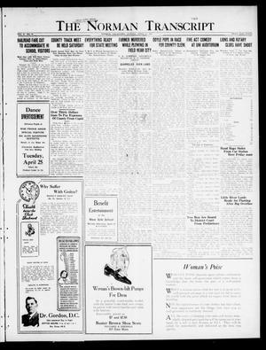Primary view of The Norman Transcript  (Norman, Okla.), Vol. 10, No. 49, Ed. 1 Sunday, April 23, 1922