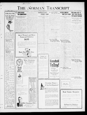 Primary view of object titled 'The Norman Transcript  (Norman, Okla.), Vol. 10, No. 55, Ed. 1 Sunday, May 7, 1922'.