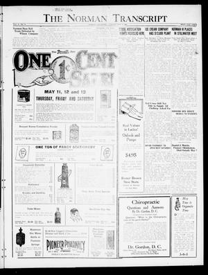 Primary view of object titled 'The Norman Transcript  (Norman, Okla.), Vol. 10, No. 56, Ed. 1 Tuesday, May 9, 1922'.