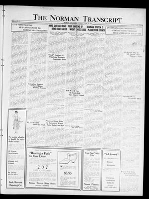 Primary view of object titled 'The Norman Transcript  (Norman, Okla.), Vol. 10, No. 74, Ed. 1 Tuesday, June 20, 1922'.