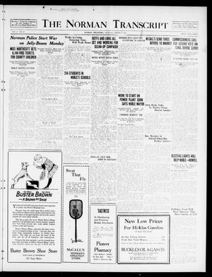 Primary view of object titled 'The Norman Transcript  (Norman, Okla.), Vol. 10, No. 95, Ed. 1 Tuesday, August 8, 1922'.