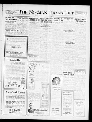 Primary view of object titled 'The Norman Transcript  (Norman, Okla.), Vol. 10, No. 103, Ed. 1 Sunday, August 27, 1922'.