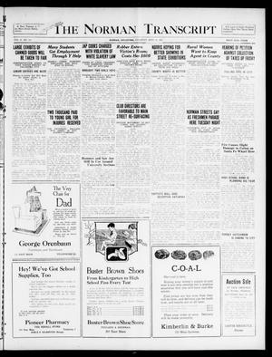 Primary view of object titled 'The Norman Transcript  (Norman, Okla.), Vol. 10, No. 114, Ed. 1 Thursday, September 21, 1922'.