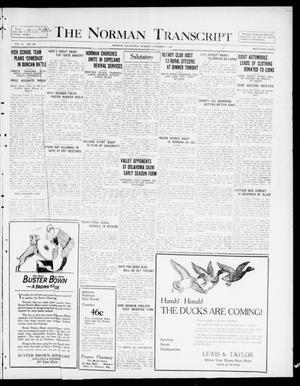 Primary view of The Norman Transcript  (Norman, Okla.), Vol. 10, No. 122, Ed. 1 Monday, October 9, 1922