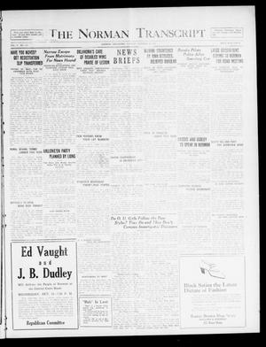 Primary view of object titled 'The Norman Transcript  (Norman, Okla.), Vol. 10, No. 135, Ed. 1 Tuesday, October 24, 1922'.