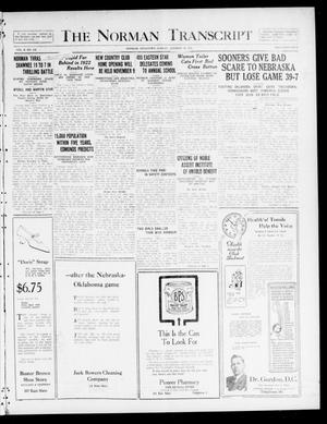 Primary view of object titled 'The Norman Transcript  (Norman, Okla.), Vol. 10, No. 139, Ed. 1 Sunday, October 29, 1922'.