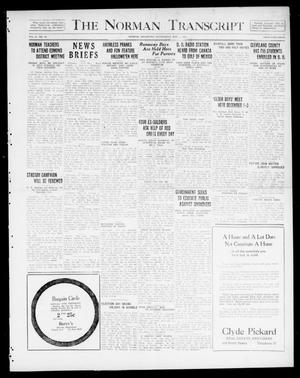 Primary view of object titled 'The Norman Transcript  (Norman, Okla.), Vol. 10, No. 142, Ed. 1 Wednesday, November 1, 1922'.