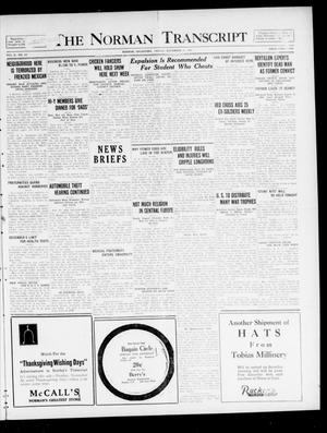 Primary view of object titled 'The Norman Transcript  (Norman, Okla.), Vol. 10, No. 156, Ed. 1 Friday, November 17, 1922'.
