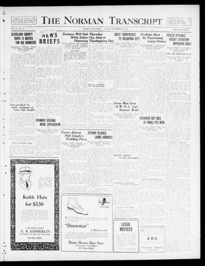 Primary view of object titled 'The Norman Transcript  (Norman, Okla.), Vol. 10, No. 165, Ed. 1 Tuesday, November 28, 1922'.