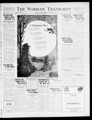 The Norman Transcript  (Norman, Okla.), Vol. 10, No. 167, Ed. 1 Thursday, November 30, 1922