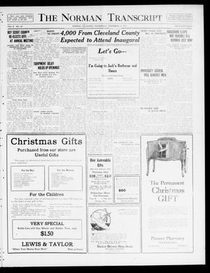 Primary view of object titled 'The Norman Transcript  (Norman, Okla.), Vol. 10, No. 178, Ed. 1 Wednesday, December 13, 1922'.