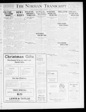 The Norman Transcript  (Norman, Okla.), Vol. 10, No. 179, Ed. 1 Thursday, December 14, 1922