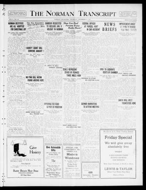Primary view of object titled 'The Norman Transcript  (Norman, Okla.), Vol. 10, No. 185, Ed. 1 Thursday, December 21, 1922'.