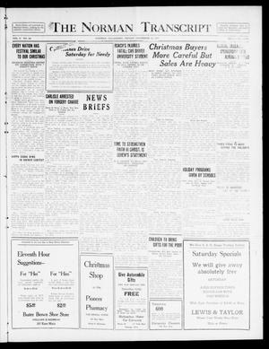 Primary view of object titled 'The Norman Transcript  (Norman, Okla.), Vol. 10, No. 186, Ed. 1 Friday, December 22, 1922'.
