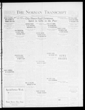 Primary view of object titled 'The Norman Transcript  (Norman, Okla.), Vol. 10, No. 188, Ed. 1 Tuesday, December 26, 1922'.