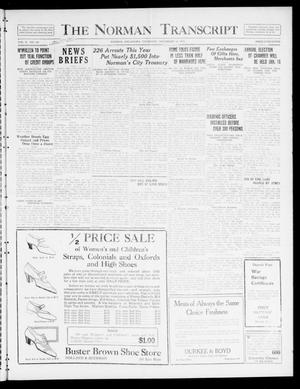 Primary view of object titled 'The Norman Transcript  (Norman, Okla.), Vol. 10, No. 190, Ed. 1 Thursday, December 28, 1922'.