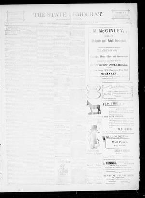 Primary view of object titled 'The State Democrat. (Norman, Okla.), Vol. 5, No. 75, Ed. 1 Saturday, April 7, 1894'.