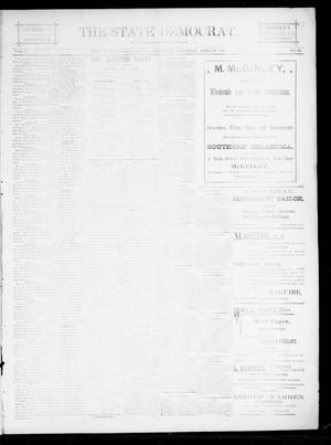 Primary view of object titled 'The State Democrat. (Norman, Okla.), Vol. 5, No. 99, Ed. 1 Saturday, April 28, 1894'.