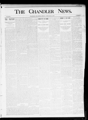 Primary view of object titled 'The Chandler News. (Chandler, Okla.), Vol. 4, No. 22, Ed. 1 Friday, February 22, 1895'.