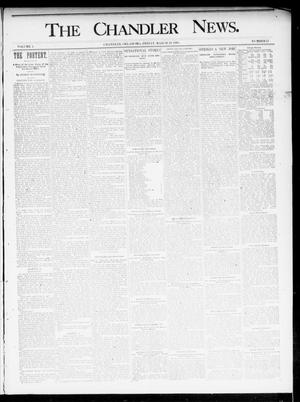 Primary view of object titled 'The Chandler News. (Chandler, Okla.), Vol. 4, No. 27, Ed. 1 Friday, March 29, 1895'.