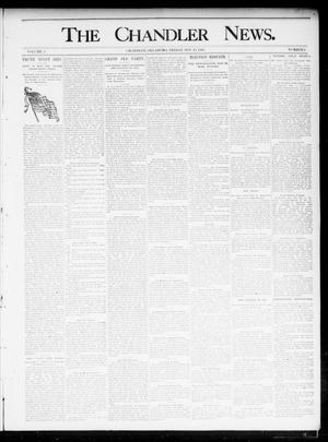 Primary view of object titled 'The Chandler News. (Chandler, Okla.), Vol. 5, No. 8, Ed. 1 Friday, November 15, 1895'.