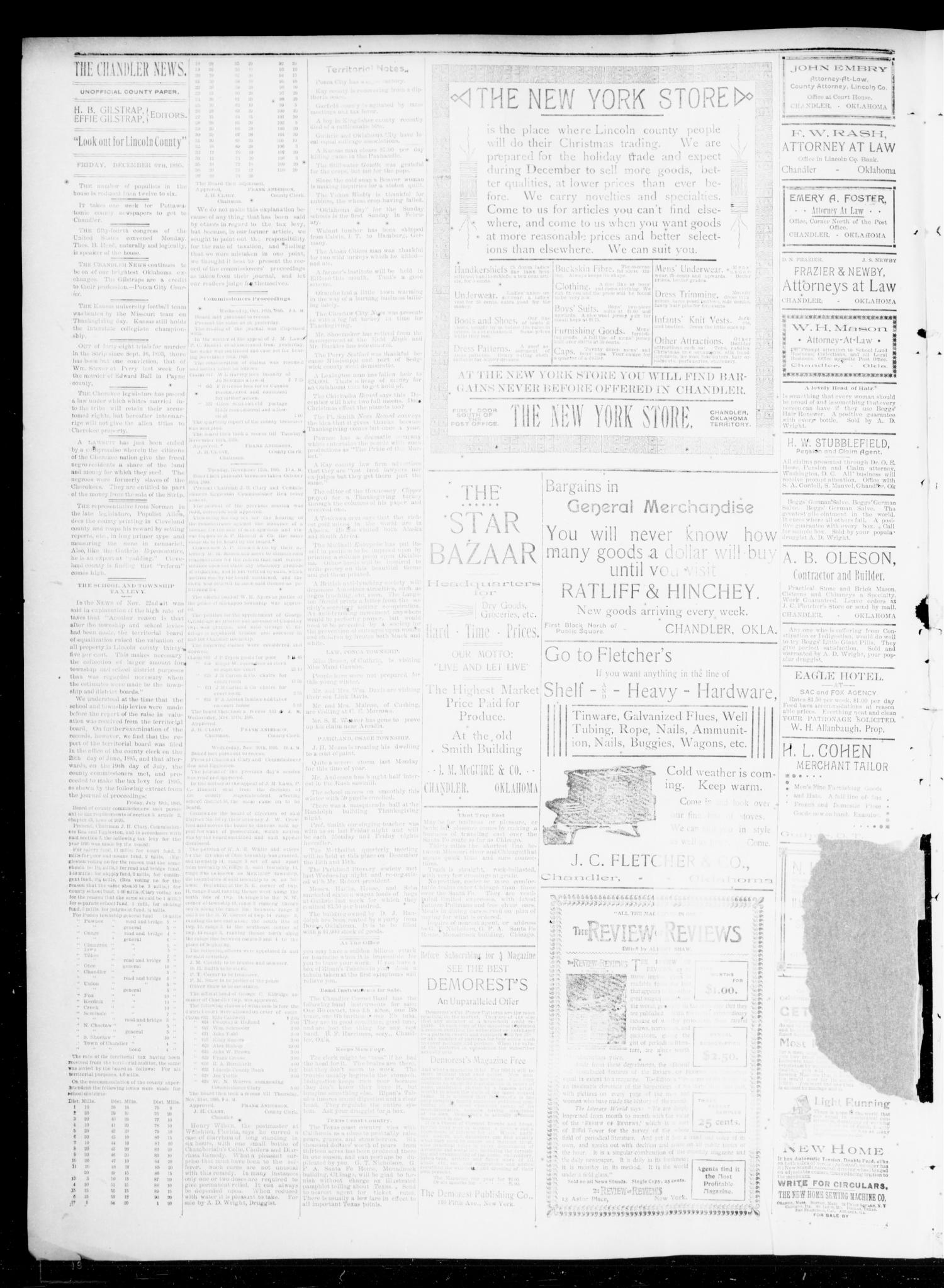 The Chandler News. (Chandler, Okla.), Vol. 5, No. 11, Ed. 1 Friday, December 6, 1895                                                                                                      [Sequence #]: 2 of 4