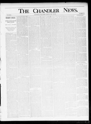 Primary view of object titled 'The Chandler News. (Chandler, Okla.), Vol. 5, No. 12, Ed. 1 Friday, December 13, 1895'.