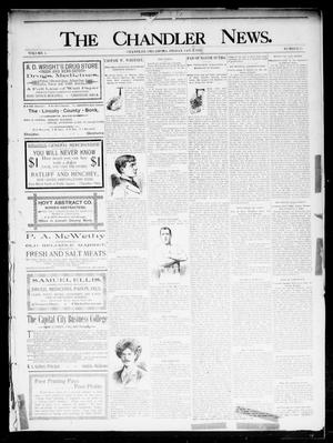 Primary view of object titled 'The Chandler News. (Chandler, Okla.), Vol. 5, No. 15, Ed. 1 Friday, January 3, 1896'.