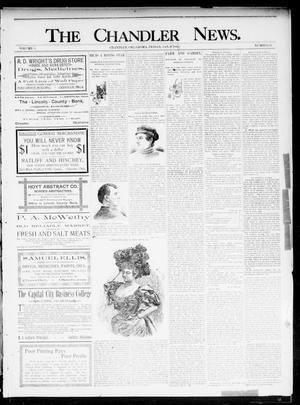 Primary view of object titled 'The Chandler News. (Chandler, Okla.), Vol. 5, No. 16, Ed. 1 Friday, January 10, 1896'.