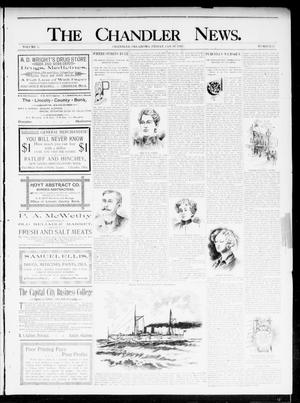 Primary view of object titled 'The Chandler News. (Chandler, Okla.), Vol. 5, No. 17, Ed. 1 Friday, January 17, 1896'.