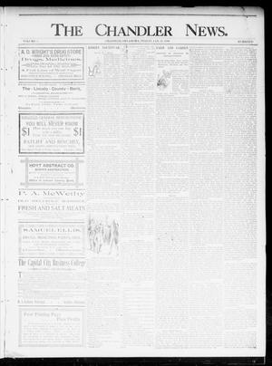 Primary view of object titled 'The Chandler News. (Chandler, Okla.), Vol. 5, No. 18, Ed. 1 Friday, January 24, 1896'.
