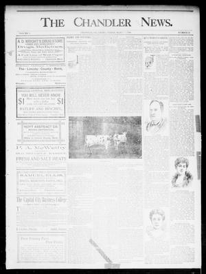 Primary view of object titled 'The Chandler News. (Chandler, Okla.), Vol. 5, No. 24, Ed. 1 Friday, March 6, 1896'.