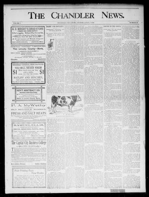 Primary view of object titled 'The Chandler News. (Chandler, Okla.), Vol. 5, No. 28, Ed. 1 Friday, April 3, 1896'.