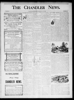 Primary view of object titled 'The Chandler News. (Chandler, Okla.), Vol. 5, No. 49, Ed. 1 Friday, August 28, 1896'.