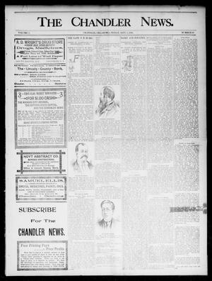 Primary view of object titled 'The Chandler News. (Chandler, Okla.), Vol. 5, No. 50, Ed. 1 Friday, September 4, 1896'.