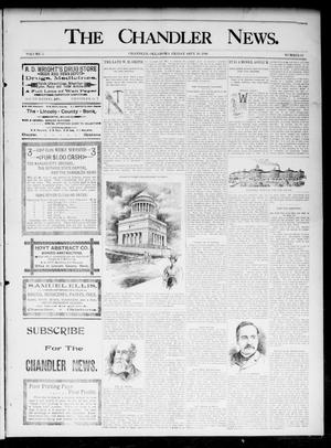 Primary view of object titled 'The Chandler News. (Chandler, Okla.), Vol. 5, No. 52, Ed. 1 Friday, September 18, 1896'.