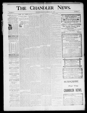 Primary view of object titled 'The Chandler News. (Chandler, Okla.), Vol. 6, No. 15, Ed. 1 Friday, January 1, 1897'.