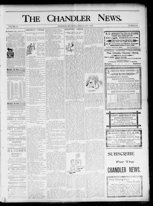 Primary view of object titled 'The Chandler News. (Chandler, Okla.), Vol. 6, No. 16, Ed. 1 Friday, January 8, 1897'.
