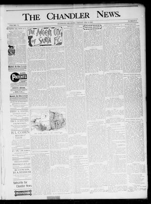 Primary view of object titled 'The Chandler News. (Chandler, Okla.), Vol. 6, No. 21, Ed. 1 Friday, February 12, 1897'.