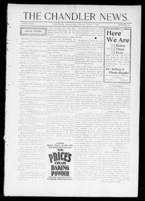 Primary view of object titled 'The Chandler News. (Chandler, Okla.), Vol. 6, No. 42, Ed. 1 Friday, July 2, 1897'.