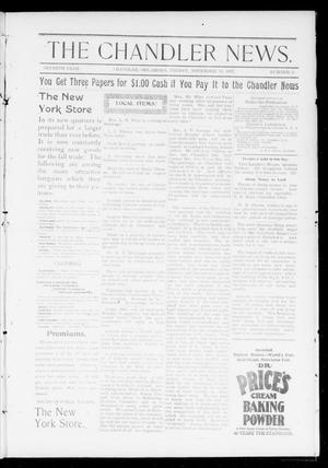 Primary view of object titled 'The Chandler News. (Chandler, Okla.), Vol. 7, No. 9, Ed. 1 Friday, November 19, 1897'.