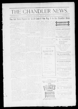 Primary view of object titled 'The Chandler News. (Chandler, Okla.), Vol. 7, No. 11, Ed. 1 Friday, December 3, 1897'.