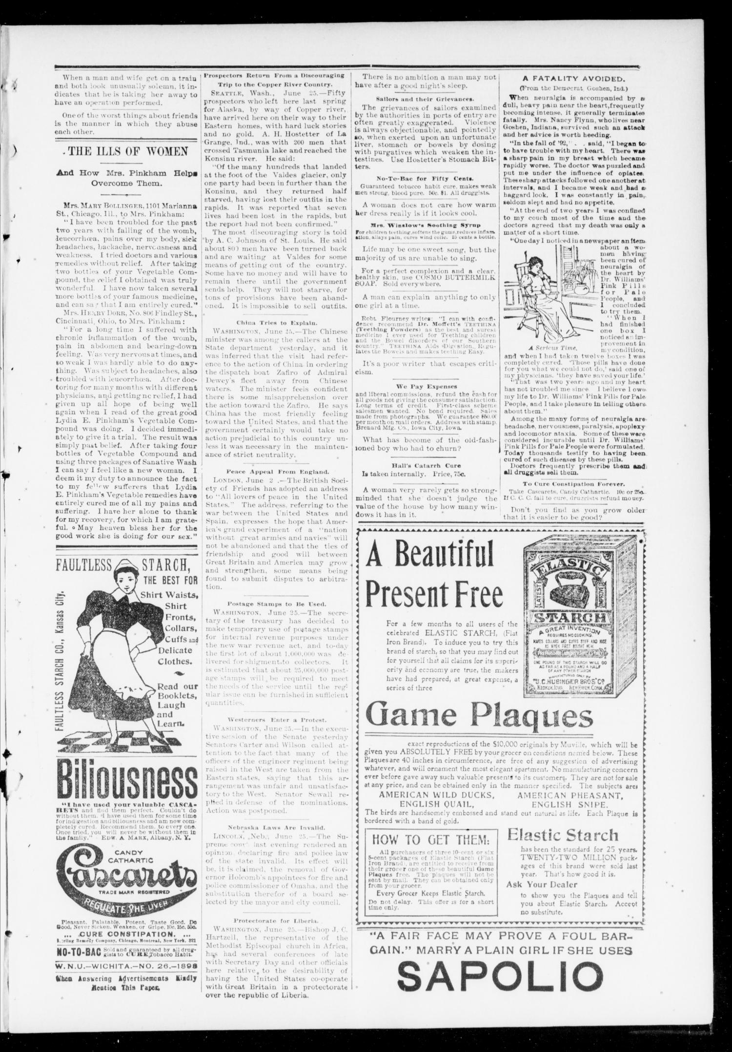 The Chandler News. (Chandler, Okla.), Vol. 7, No. 41, Ed. 1 Friday, July 1, 1898                                                                                                      [Sequence #]: 3 of 10