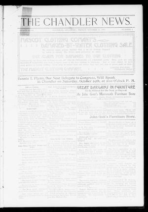 Primary view of object titled 'The Chandler News. (Chandler, Okla.), Vol. 8, No. 4, Ed. 1 Friday, October 14, 1898'.