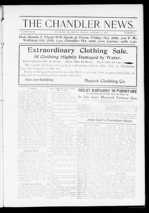 Primary view of object titled 'The Chandler News. (Chandler, Okla.), Vol. 8, No. 5, Ed. 1 Friday, October 21, 1898'.