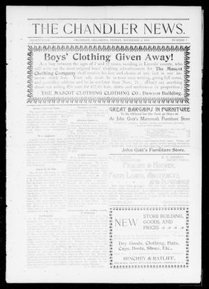 Primary view of object titled 'The Chandler News. (Chandler, Okla.), Vol. 8, No. 7, Ed. 1 Friday, November 4, 1898'.