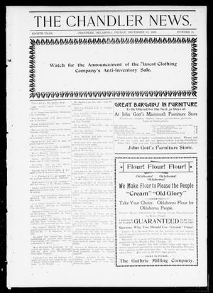 Primary view of object titled 'The Chandler News. (Chandler, Okla.), Vol. 8, No. 15, Ed. 1 Friday, December 30, 1898'.